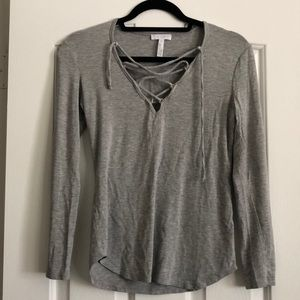 Leith Heather Gray Top